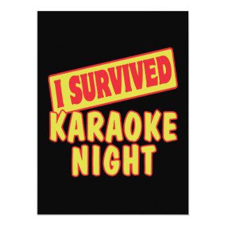 I SURVIVED KARAOKE NIGHT PERSONALIZED INVITE