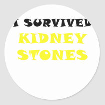 I Survived Kidney Stones Classic Round Sticker