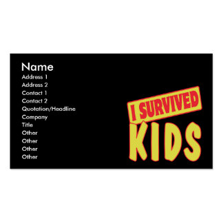 I SURVIVED KIDS Double-Sided STANDARD BUSINESS CARDS (Pack OF 100)