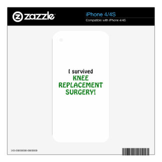 I Survived Knee Replacement Surgery Decals For iPhone 4