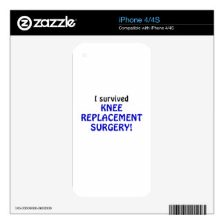 I Survived Knee Replacement Surgery Decals For The iPhone 4S