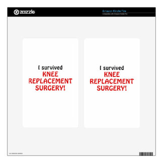 I Survived Knee Replacement Surgery Kindle Fire Skin