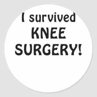 I Survived Knee Surgery Classic Round Sticker