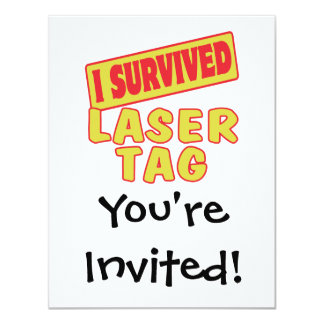 I SURVIVED LASER TAG 4.25X5.5 PAPER INVITATION CARD