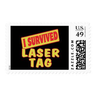 I SURVIVED LASER TAG POSTAGE STAMP