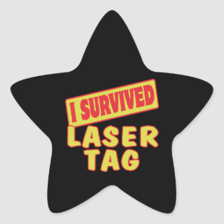 I SURVIVED LASER TAG STAR STICKER