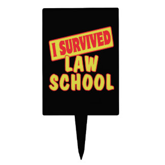 I SURVIVED LAW SCHOOL CAKE TOPPER