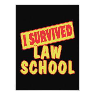 I SURVIVED LAW SCHOOL CUSTOM INVITES