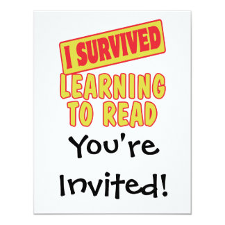 I SURVIVED LEARNING TO READ CARD