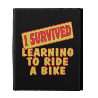 I SURVIVED LEARNING TO RIDE A BIKE iPad CASE