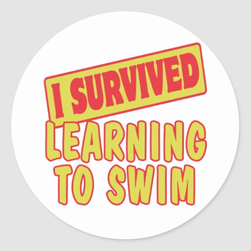 I SURVIVED LEARNING TO SWIM STICKERS