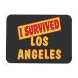 I SURVIVED LOS ANGELES LA RECTANGULAR PHOTO MAGNET