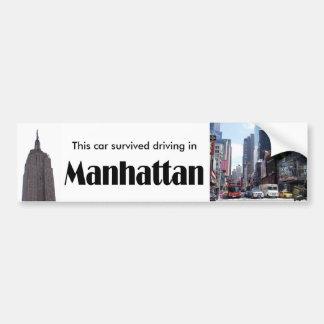 I Survived Manhattan Car Bumper Sticker
