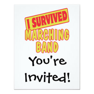 I SURVIVED MARCHING BAND INVITE