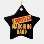 I SURVIVED MARCHING BAND Double-Sided STAR CERAMIC CHRISTMAS ORNAMENT