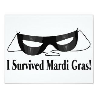I Survived Mardi Gras Card