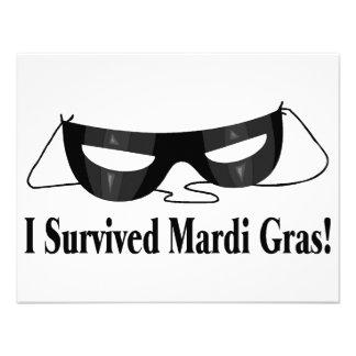 I Survived Mardi Gras Custom Invite
