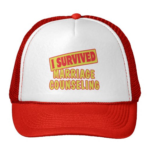 I SURVIVED MARRIAGE COUNSELING TRUCKER HAT