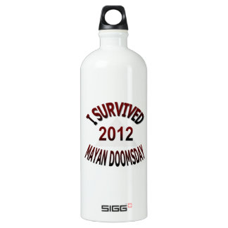 I Survived Mayan Doomsday 2012 Aluminum Water Bottle