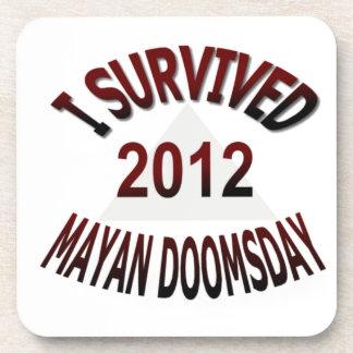 I Survived Mayan Doomsday 2012 Beverage Coasters