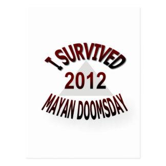 I Survived Mayan Doomsday 2012 Postcard