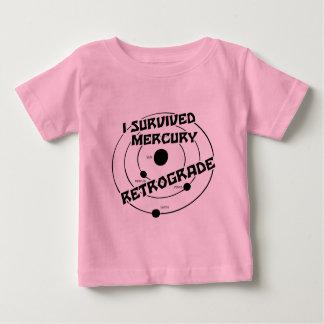 I Survived Mercury Retrograde b&w Baby T-Shirt