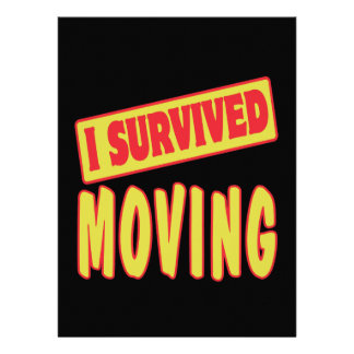 I SURVIVED MOVING PERSONALIZED INVITES
