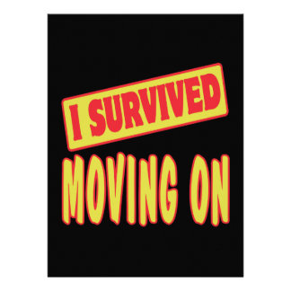 I SURVIVED MOVING ON INVITES