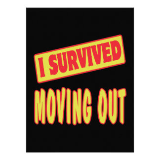 I SURVIVED MOVING OUT INVITE
