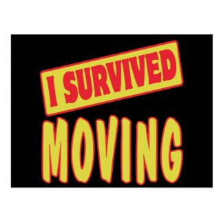 I SURVIVED MOVING POSTCARD