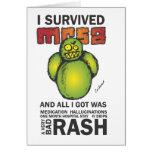 I Survived MRSA Greeting Card