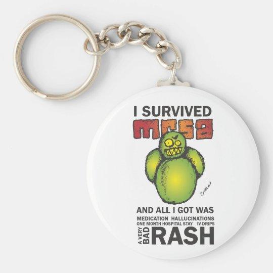 I Survived MRSA Keychain
