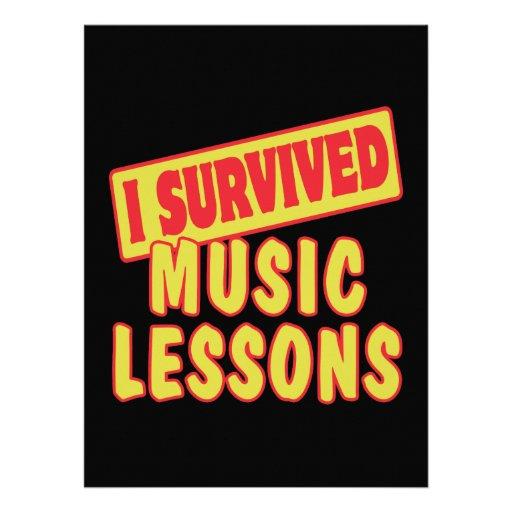 I SURVIVED MUSIC LESSONS CUSTOM INVITATIONS