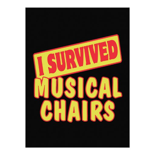 I SURVIVED MUSICAL CHAIRS CUSTOM INVITES