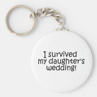 I Survived My Daughters Wedding Basic Round Button Keychain
