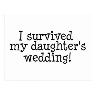 I Survived My Daughter's Wedding Postcard