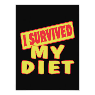 I SURVIVED MY DIET 6.5X8.75 PAPER INVITATION CARD