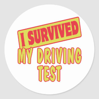 I SURVIVED MY DRIVING TEST STICKER