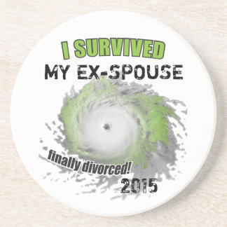 I Survived My Ex-Spouse (personalizable) Coasters