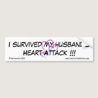 I survived my husband's heart attack bumper sticker