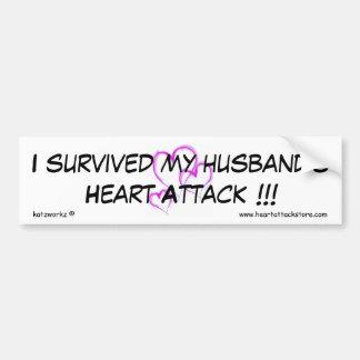 I survived my husband's heart attack car bumper sticker