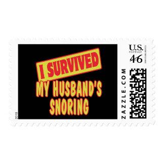 I SURVIVED MY HUSBANDS SNORING STAMP