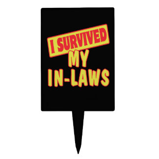 I SURVIVED MY IN-LAWS CAKE PICKS