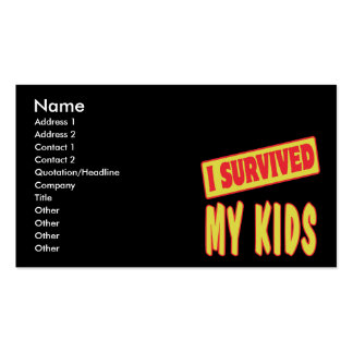I SURVIVED MY KIDS Double-Sided STANDARD BUSINESS CARDS (Pack OF 100)