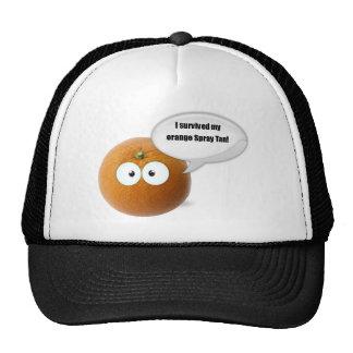 I survived my orange spray tan trucker hat