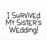 I Survived My Sister's Wedding Black Postcards