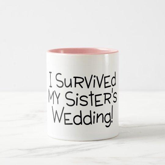 My Sisters Wedding: I Survived My Sister's Wedding Black Two-Tone Coffee Mug