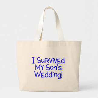 I Survived My Sons Wedding Blue Canvas Bags