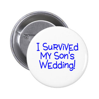 I Survived My Sons Wedding Blue Buttons