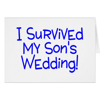 I Survived My Sons Wedding Blue Cards